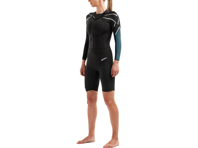 2XU Sr:Pro-Swim Run Sr1 Märkäpuku Naiset, black/aquarius